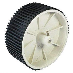 Double White Screw Mount Tyre - 10x4cm