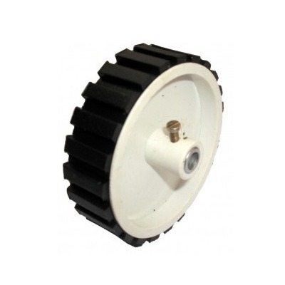 White Screw Mount Robot Wheel 7×2