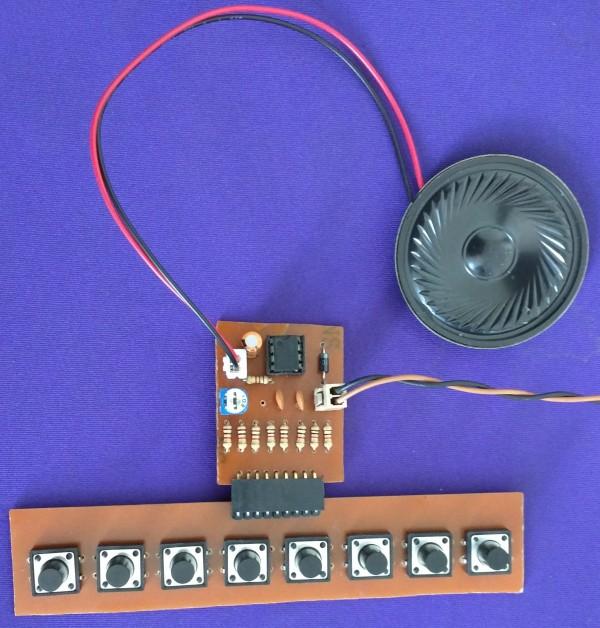 Piano using 555 Timer - PCB