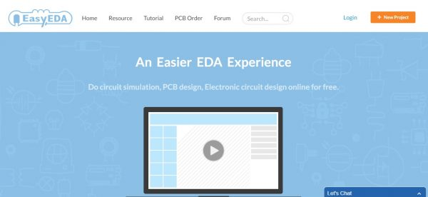 EasyEDA Website Home Page