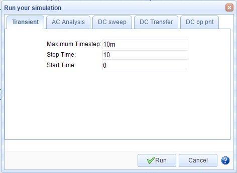 Setting Transient Parameter - EasyEDA