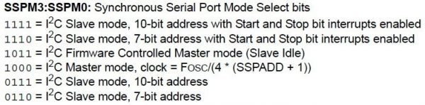 Synchronous Serial Port Select bits - PIC 16F877A