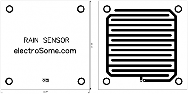 Rain Sensor PCB - Top and Bottom