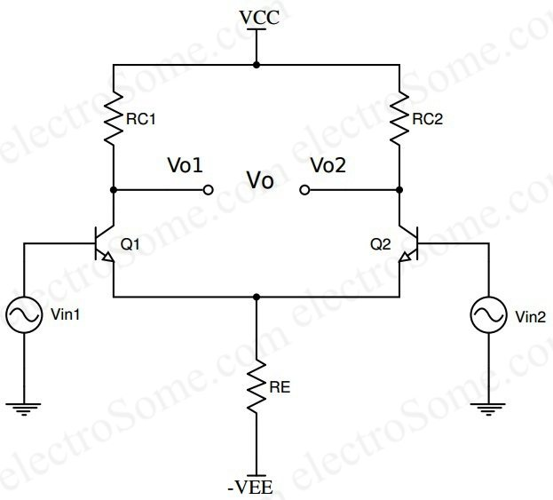 Transistor Wiring Diagram : Transistor amplifier circuit with diagram for watts
