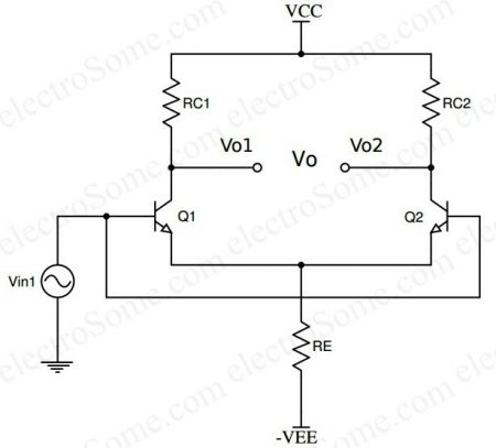 Differential Amplifier using Transistor - Common Mode