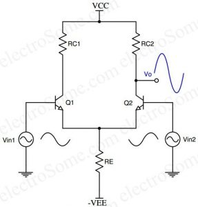 Differential Amplifier using Transistor - Dual Input Unbalanced Output