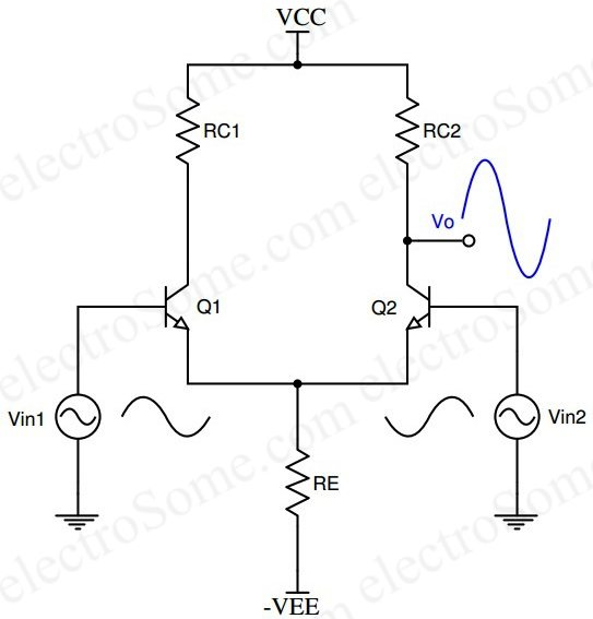 differential amplifier circuit tutorial using bjt and