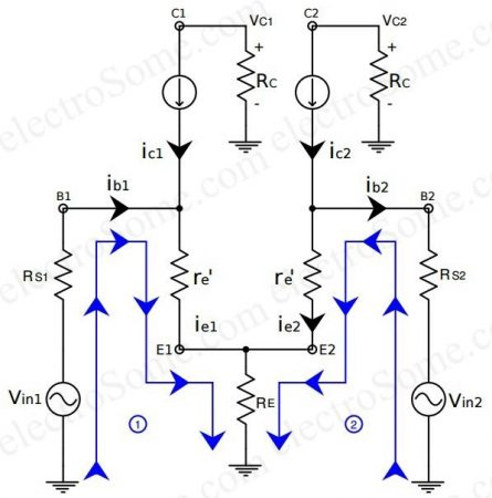 Differential Amplifier using Transistors - AC Analysis