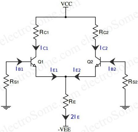 Differential Amplifier using Transistors - DC Analysis