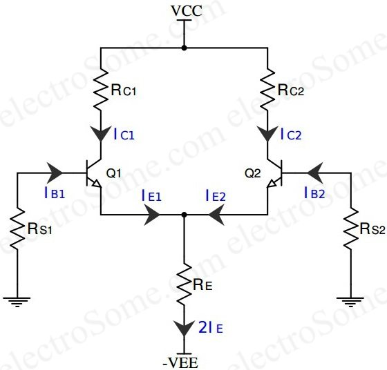 differential amplifier using transistors