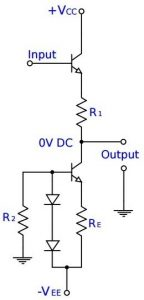 Emitter Follower Diode Current Bias - Level Translator