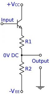 Emitter Follower Voltage Divider - Level Translator