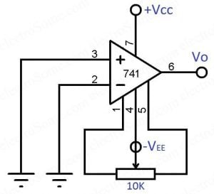 Offset Voltage Adjustment Range - Opmp