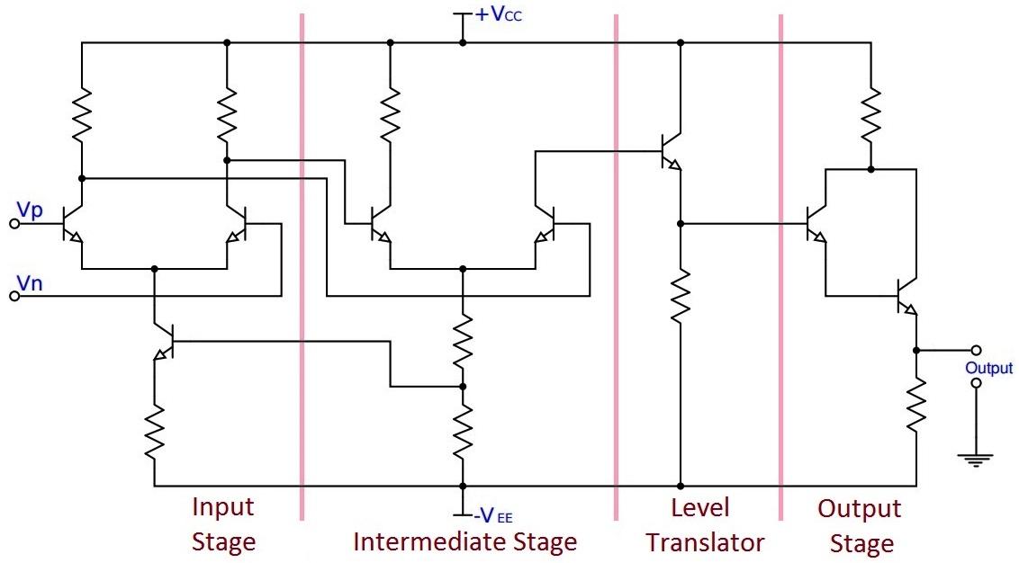 circuit diagram of op-amp