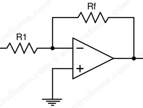 Inverting Amplifier using Opamp - Circuit Diagram