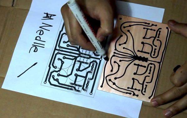Hand Drawn PCB