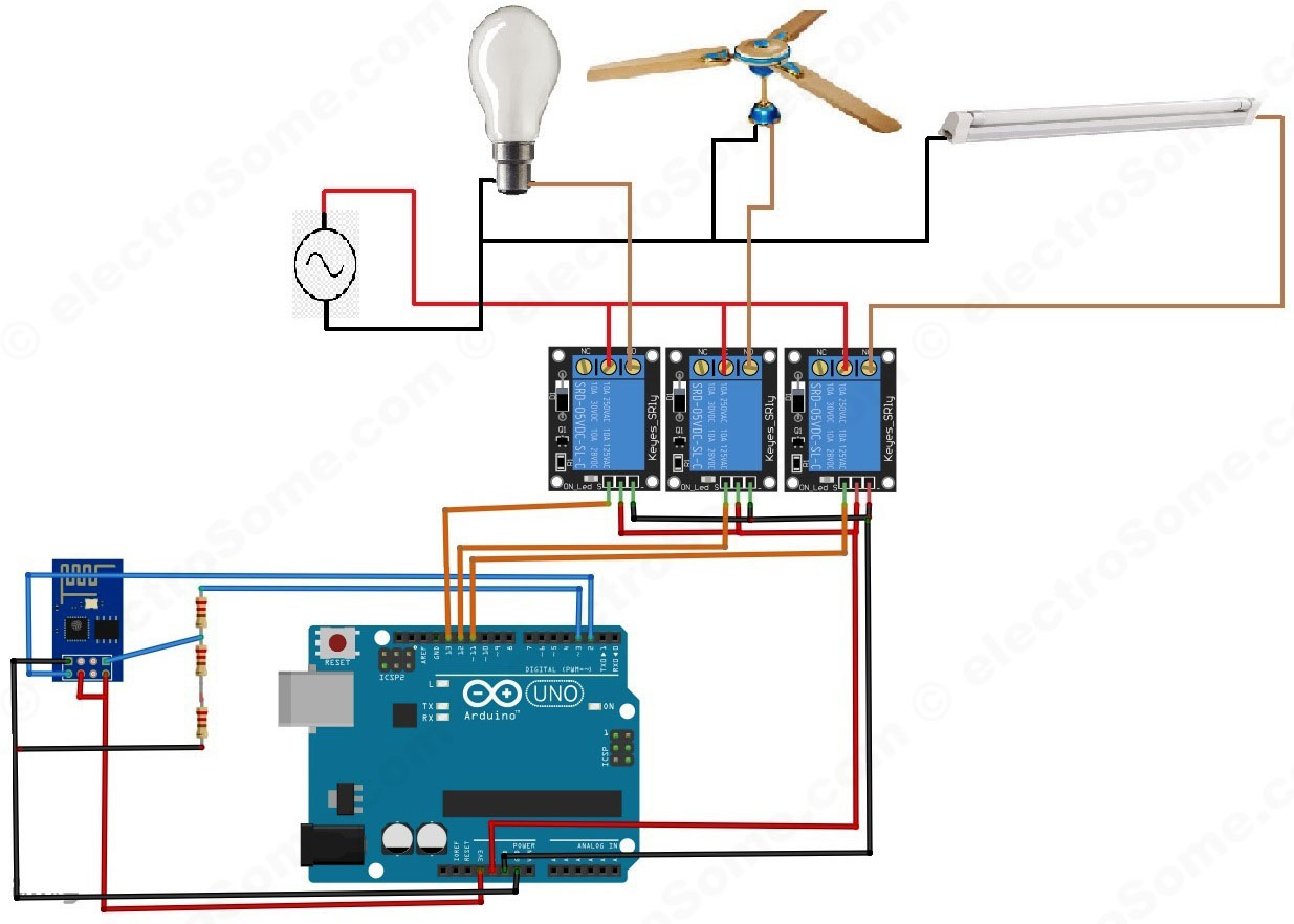 Of Electronics And Automations Working With The Comparator Circuit Home Automation Using Arduino Esp8266 Module System Diagram
