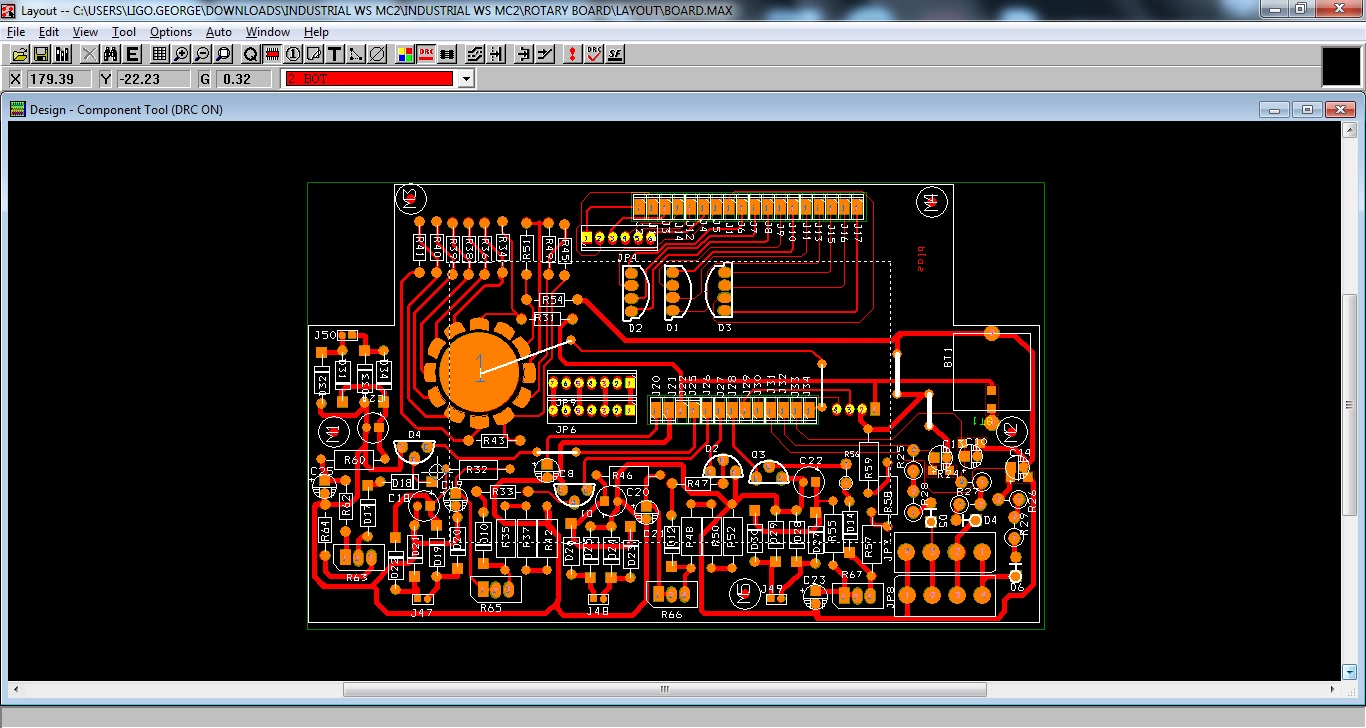 Automatic night light pcb layout - Orcad Pcb Layout