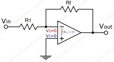 Virtual Ground - Inverting Amplifier using Opamp