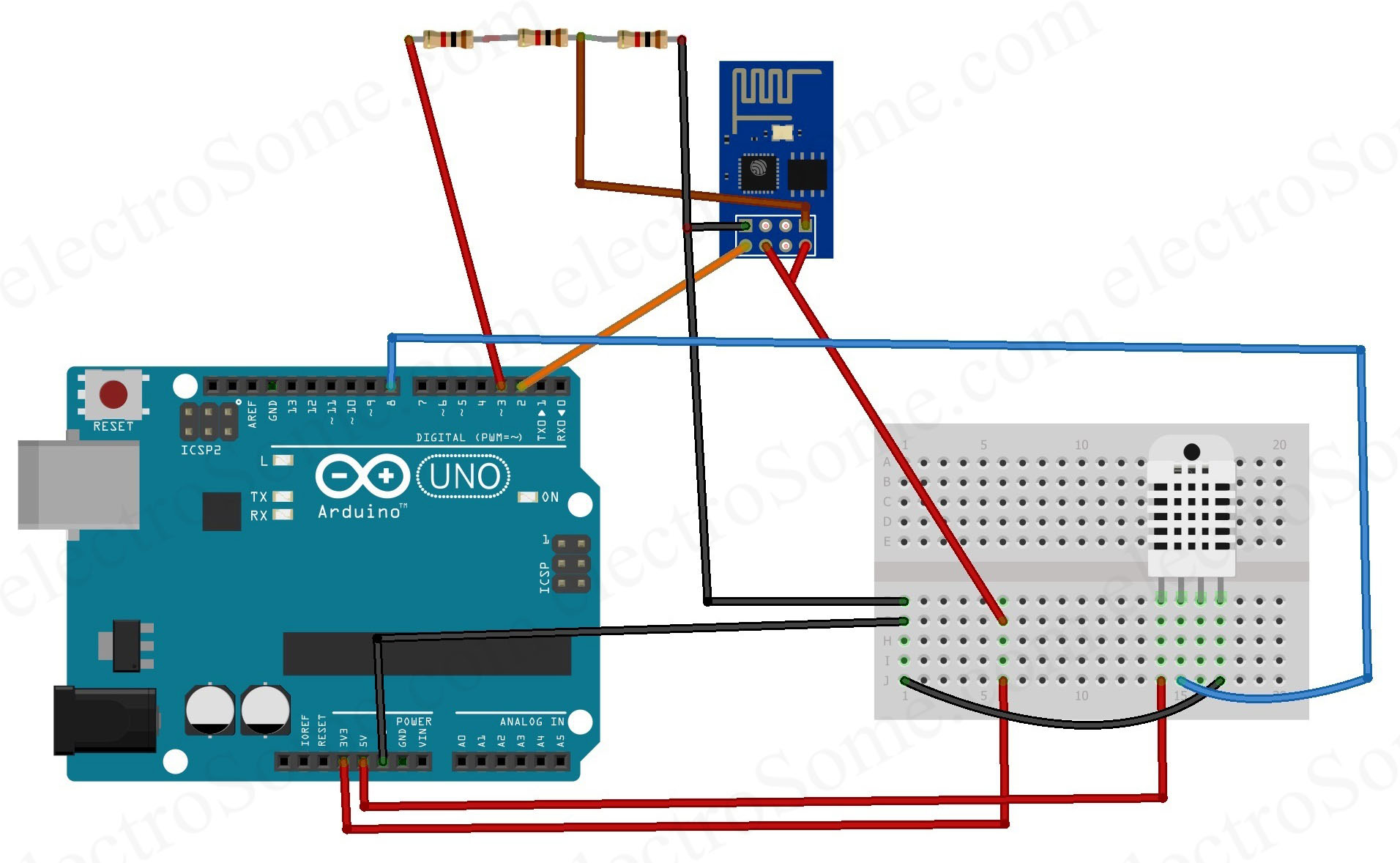 Weather Station using Aruino - Web Server - IoT