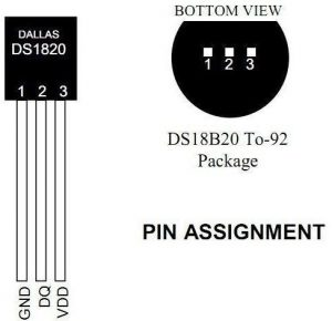 DS18B20 - Pin Out