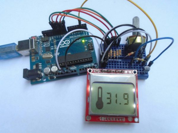 Digital Thermometer using Arduino and DS18B20