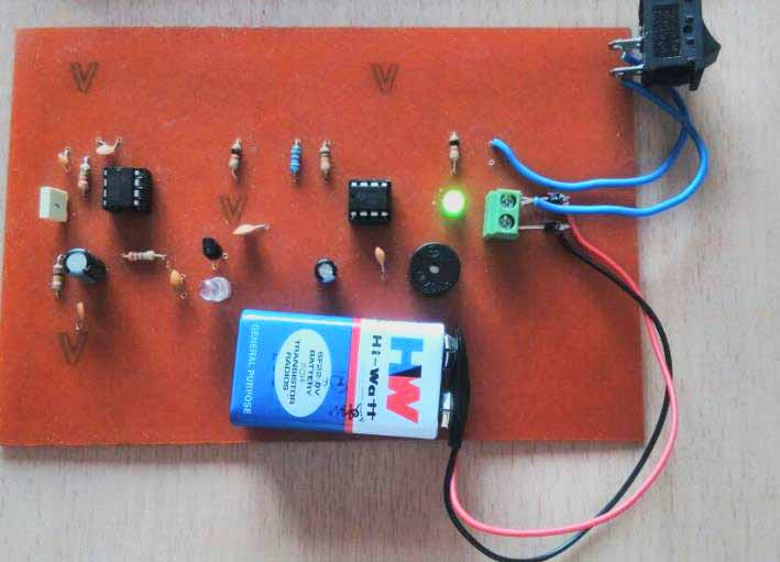mobile phone detector hobby project circuit diagram