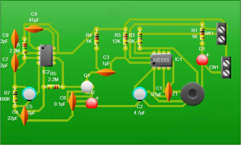 Mobile Phone Detector Pcb Model on Simple Power Supply Circuit Diagram