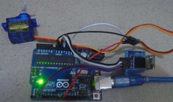 Web Controlled Servo Motor Using Arduino Uno - Practical Implementation