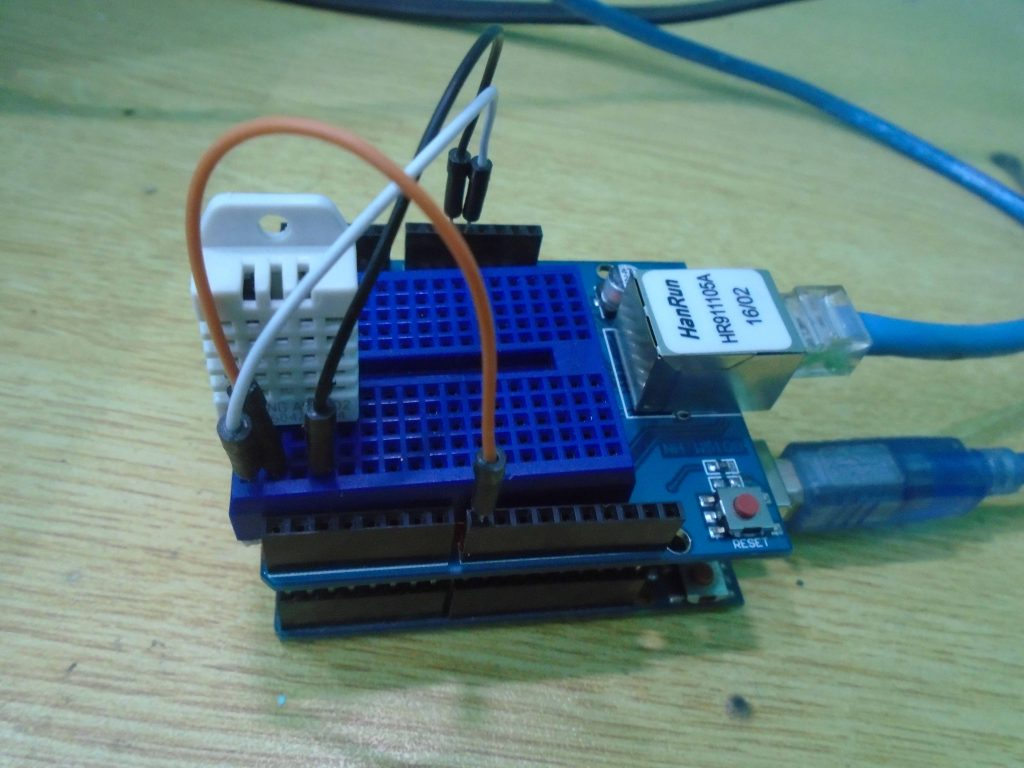 Making Ethernet Web Server With Arduino Uno Iot Project Rain Detector Electronic Circuit
