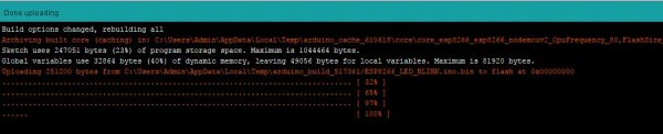 ESP8266 Program Uploading