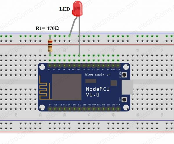 Controlling LEDs using ESP8266 as Web Server - IoT Project