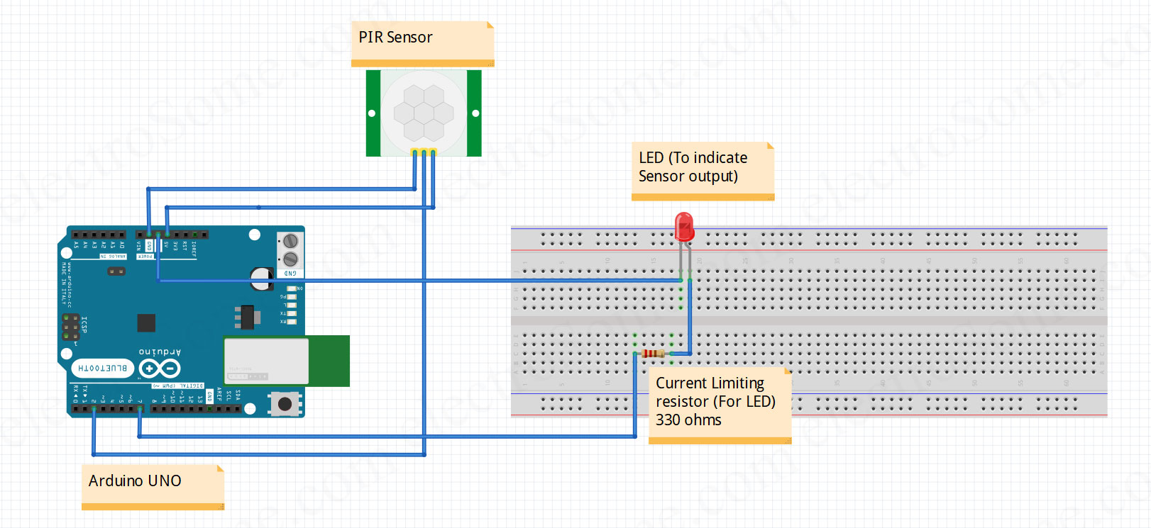 Interfacing Pir Motion Sensor With Arduino Tutorial Basic Integer Calculator At89c51 Circuit Diagram