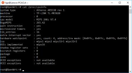 Finding OpenWrt CPU Info