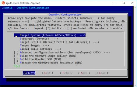 OpenWrt Build System Make Menuconfig