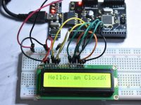 Interfacing LCD with CloudX - Experiment