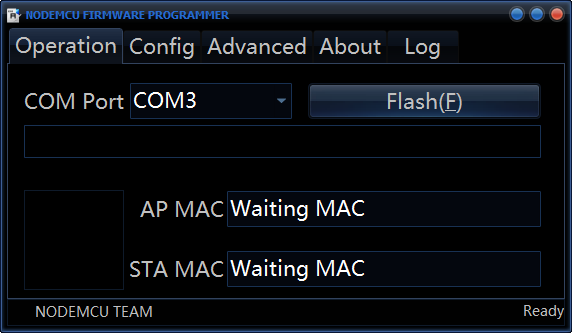 NodeMCU Firmware Programmer_Flashing Firmware