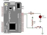 LED On-Off Control by Push Button - CloudX Sample Codes
