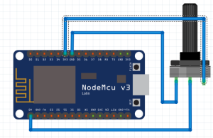 Updating Sensor Data to Google Spreadsheet using ESP8266 - Circuit Diagram