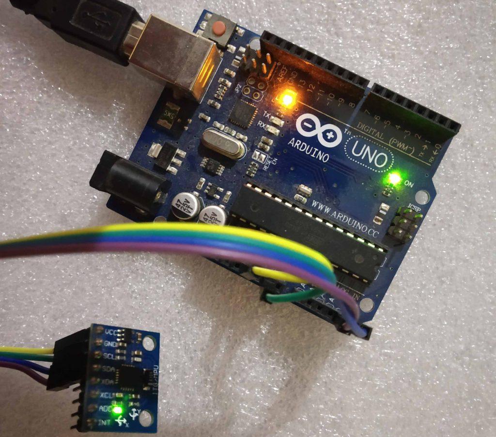 Interfacing MPU-6050 GY-521 Accelerometer Gyrometer with