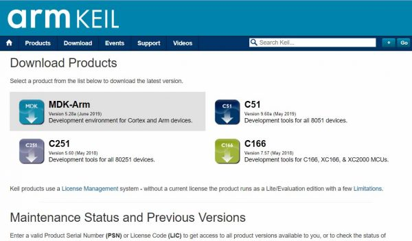 Keil - Product Downloads