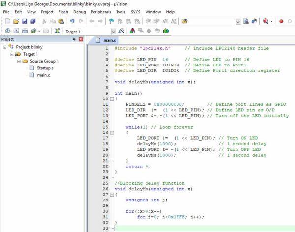 Code Editor - Keil IDE
